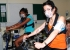 Dr Maryam Khosravi and Dr Sav Wijesingha taking part in Cardio-pulmonary exercise testing