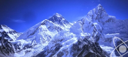 L-R Nuptse, Everest and Lhotse